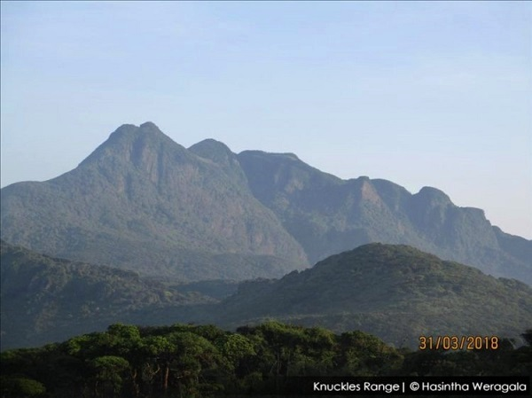 knuckles range seen from thangappuwa side