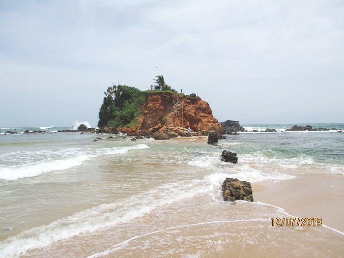 parrot rock is just by the mirissa beach