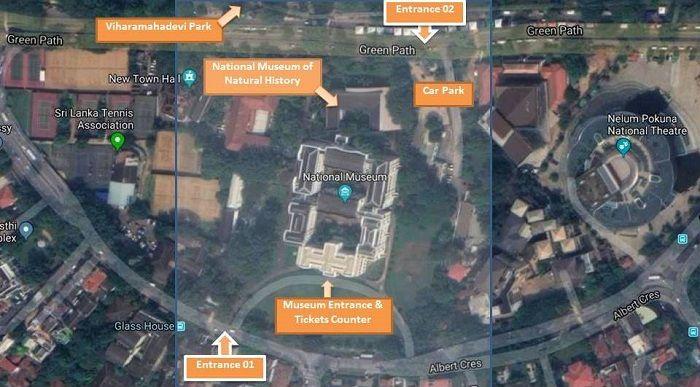 overhead plan of colombo museum