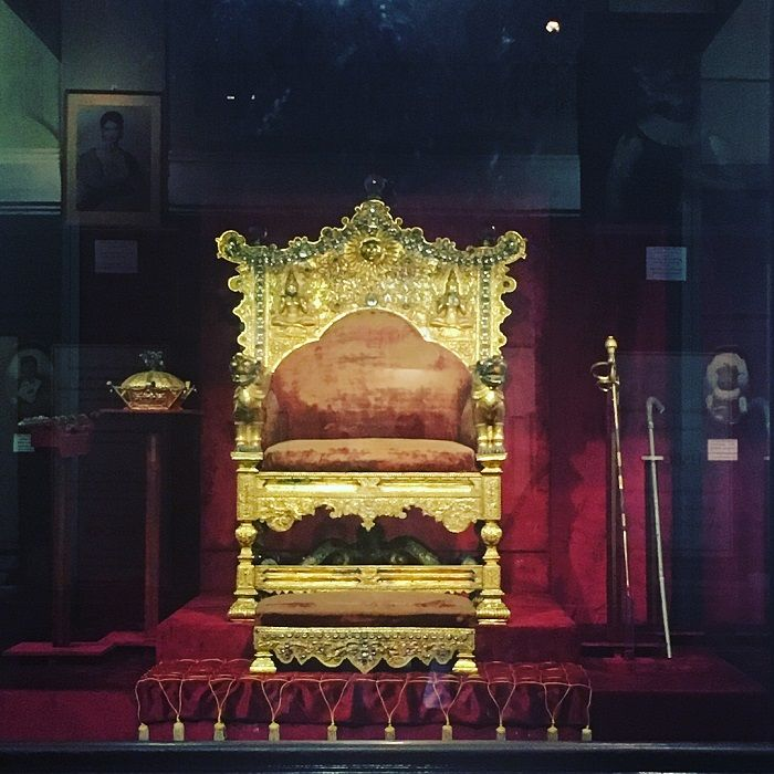 throne of kandyan kings in display