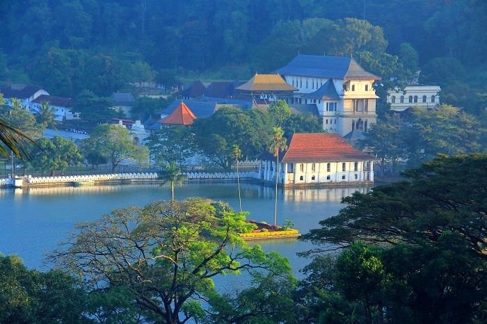 kandy city and lake seen from the viewpoint