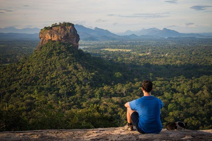 sigiriya rock view from distance