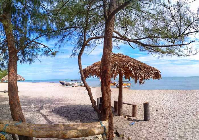 Casuarina Beach is located on Karaitivu Island jaffna