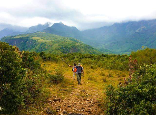 hiking manigala mountain in knuckles reserve