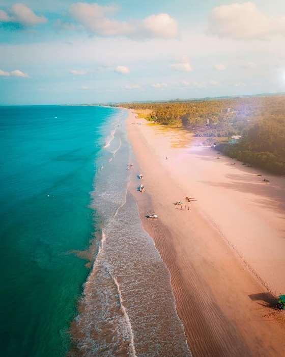 an aerial shot of Nilaveli beach trincomalee