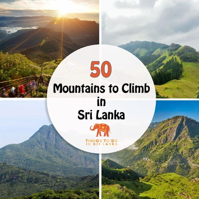 50 Mountains to Climb in Sri lanka