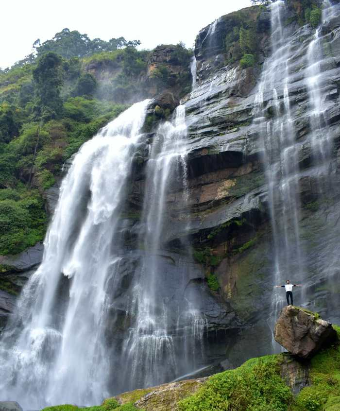 widest fall in Sri Lanka bomburu ella falls nuwara eliya