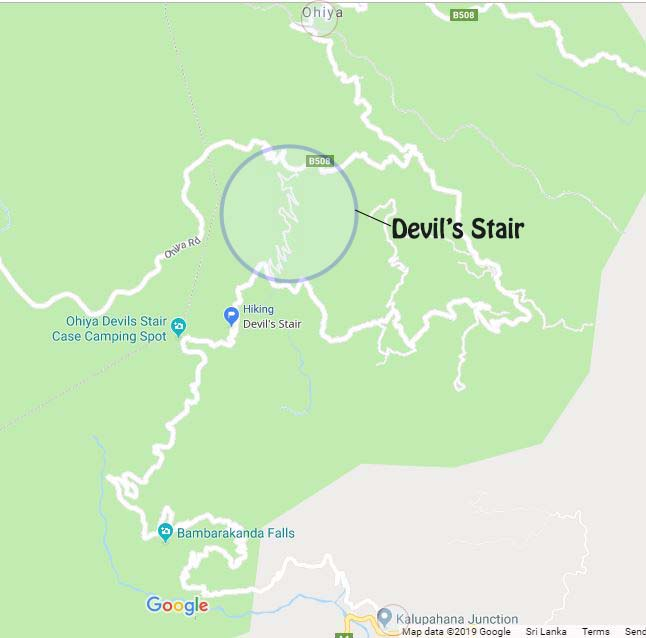 devil's stair trail map