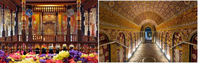 Inside of Temple of tooth kandy small