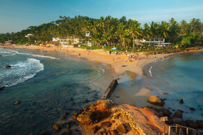 mirissa beach and parrot rock